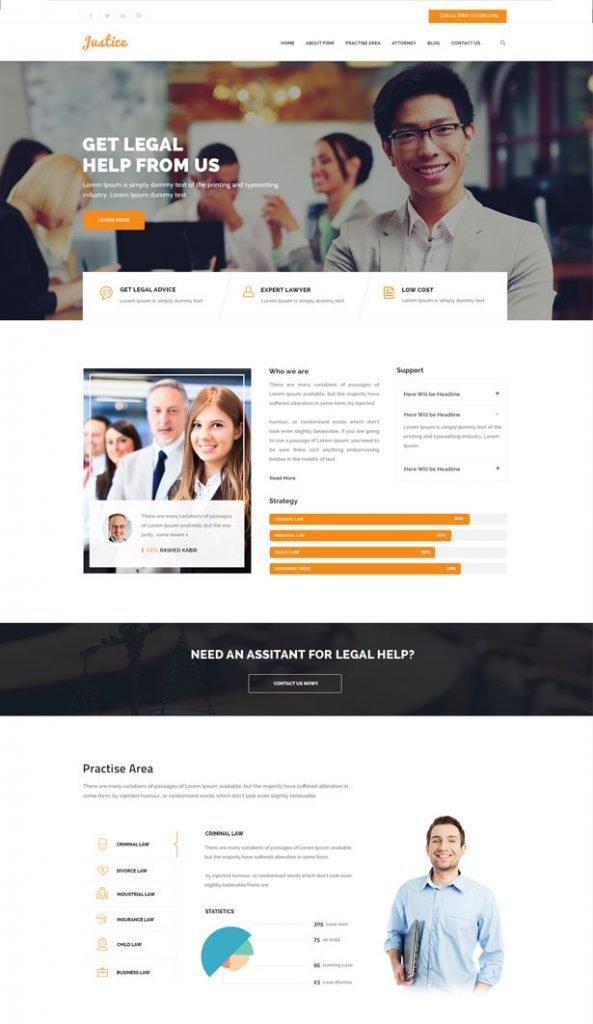 miCliente | Ejemplo de página web para despachos de abogados